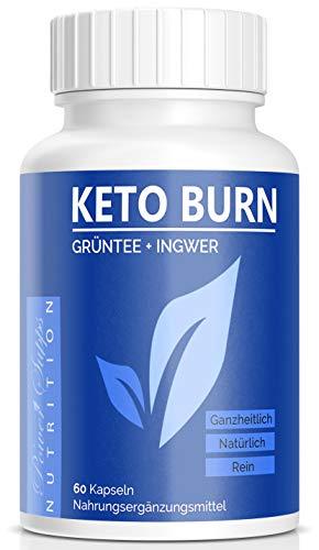 KETO BURN – Abnehmen – natürliche Inhaltsstoffe – Grüntee – Ingwer – Koffein – Cayennepfeffer – Hergestellt in Deutschland (1)