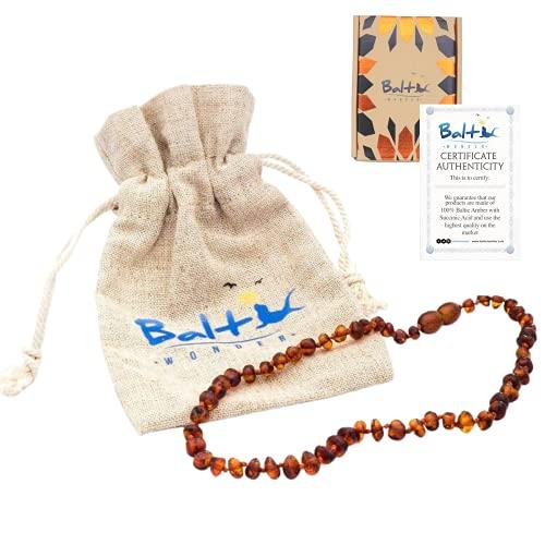 Baltic Wonder Baltic Necklaces (Baroque Cognac) Certified as...