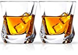 Cooko Bicchiere di whisky, Set di Vetro in Cristallo di Lusso, Priva di Piombo Chiarezza Glass, Set di Vino da 2 Bicchieri (8oz) per Vino, Cocktail o Succo di Frutta