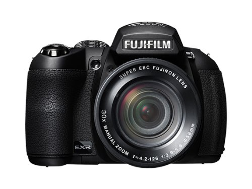 Fujifilm Finepix HS25 Fotocamera Digitale, 16 Megapixel, Sensore CMOS EXR, Zoom 30x 24-720mm, Nero