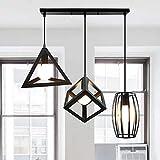 iDEGU 3 Lampes Suspensions Luminaire Design Géométrique Moderne E27...
