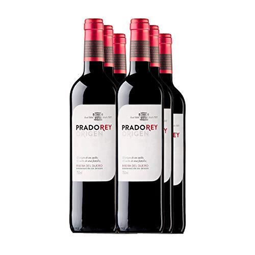 PRADOREY Roble - Vino rosso - Vino spagnolo - Roble - Ribera del Duero - 95% Tempranillo, 3% Cabernet Sauvignon, 2% Merlot - Vino novello con breve permanenza in barrique - 6 bottiglie - 0,75 l