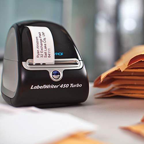 Product Image 1: DYMO Label Printer   LabelWriter 450 Turbo Direct Thermal Label Printer, Fast Printing, Great for Labeling, Filing, Mailing, Barcodes and More, Home & Office Organization