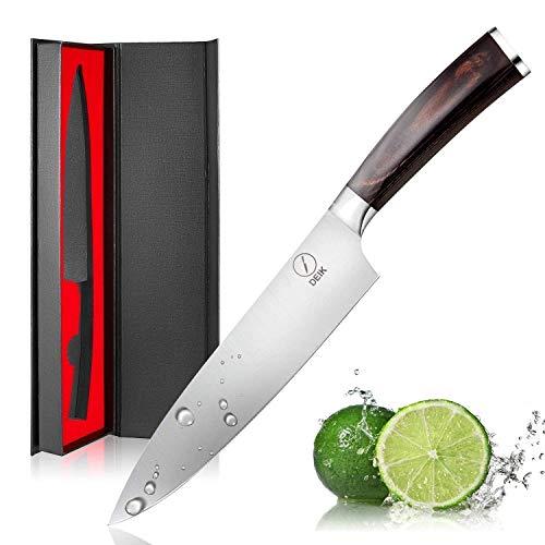Deik Coltello Cucina, 20cm Coltello Chef con 1.4116 Importati in Acciaio Inox, Equilibrio di...