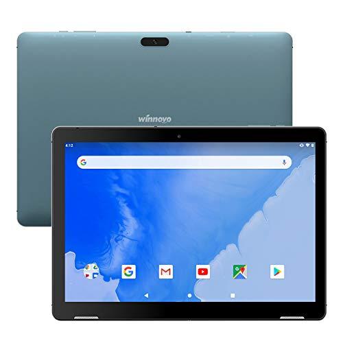 Tablet 10 Inch Android 9.0 - Winnovo T10 Tablets PC WiFi 3GB RAM 32GB Storage Quad-Core Processor IPS HD Display Dual Camera GPS Bluetooth HDMI FM (Blue)