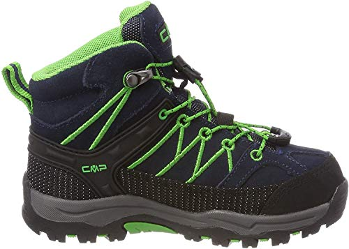 CMP Rigel, Stivali da Escursionismo Alti Unisex Bambini, Blu (B.Blue-Gecko), 32