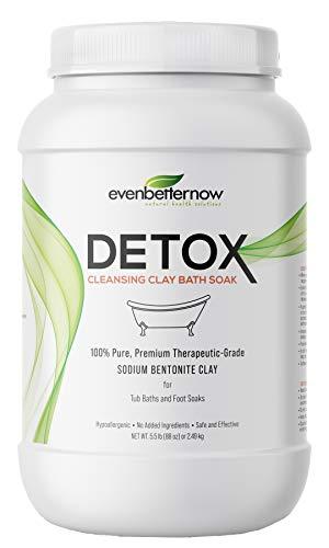 Evenbetternow Detox Cleansing Clay Bath Soak, 5.5 lbs, 100% Pure Sodium Bentonite - Removes Toxins, Impurities and Contaminants