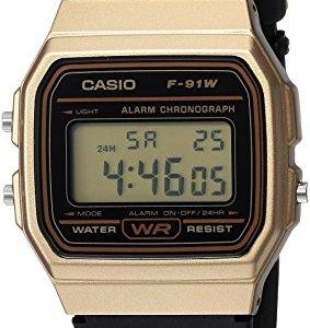 Casio Men's Data Bank Quartz Watch with Resin Strap, Black, 18 (Model: F91WM-9A) 15