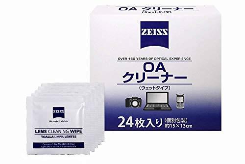 Zeiss カールツァイス OAクリーナー ウェットタイプ 15cm×13cm 24枚入り 個別包装