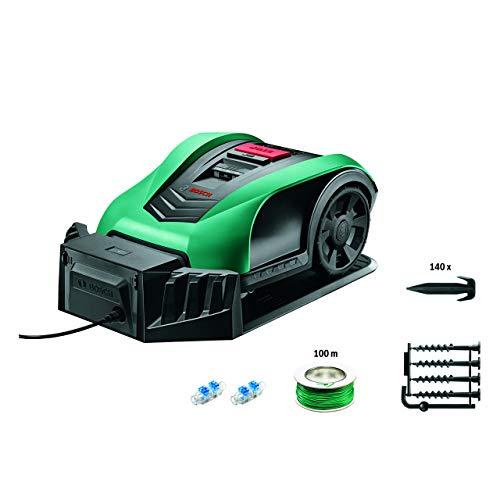 Bosch Home and Garden 0 600 8B0 100 Tagliaerba Indego S Funzione App, Larghezza di Taglio 19 cm, per Prati Fino a 350 m² di Superficie