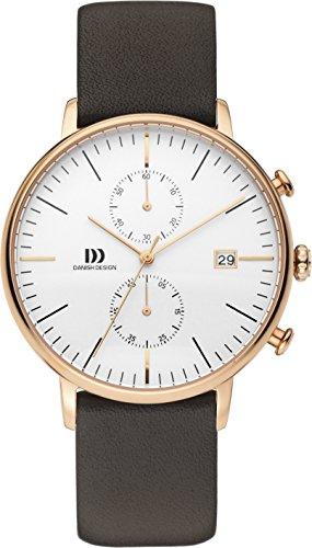 Danish Design Herren Analog Quarz Uhr mit Leder Armband DZ120574