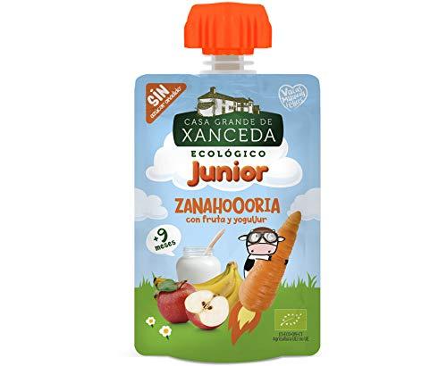 Bolsita de fruta y zanahoria con yogur ecológico de Casa Gr
