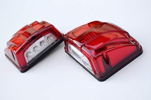24V LED 2x doppia funzione luci luce bianca targa e rosso posizione camion rimorchio telaio