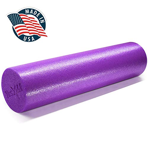 Yes4All Premium Medium Density Round PE Foam Roller for Physical Therapy - 24inch (Purple)