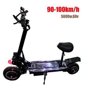 FZ FUTURE Plegable Scooter Eléctrico, Patinetes eléctricos Patinete electrico con Asiento 5600W Máxima del Motor, con…