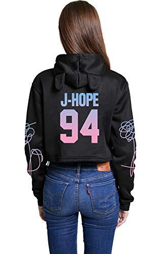 Kpop BTS Cat Ear Hoodie Love Yourself Tear Sweater Jung Kook Jimin Suga V Jin