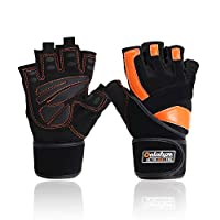 PREMIUM GEL PADDING FOR SUPERIOR PROTECTION- Qatalyze gym gloves for men, women and boys provide STRONGER PROTECTION: Full palm protection and thickening PAD will buffer the impact of sport equipment. The Wrist Strap, as a Stress reliever, contribute...