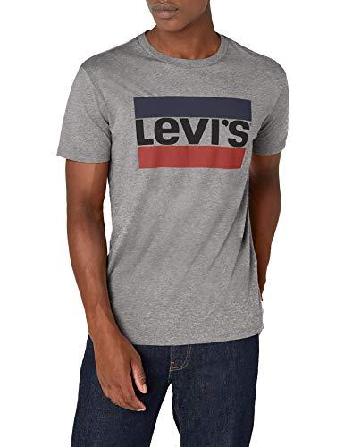 Levi's Graphic Camiseta, Gris (84 Sportswear Logo Grey Midtone Grey Htr 0002), Large para Hombre