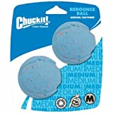 ChuckIt! Rebounce Natural Recycled Rubber Dog Ball, Medium, 2 Pack