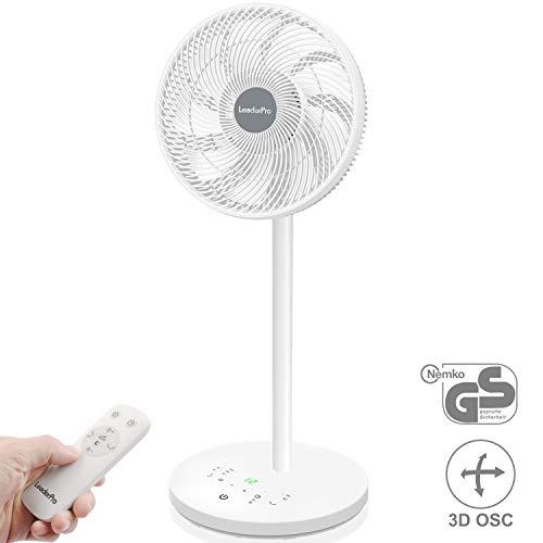 LeaderPro DC Ventilatore a Piantana con Telecomando con Turbo,3D Oscillazione,Tecnologia a Ciclone...