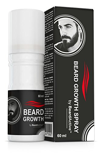 Beard Growth Spray® - Favorisce La Crescità - 100% Vegetale - Per Una Barba Piu Folta E Forte!