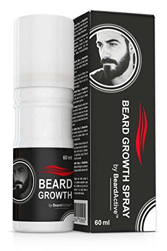 Beard Growth Spray®-Acceleratore di crescita della barba, 100% vegetale, per una barba voluminosa, rivitalizzata e folta