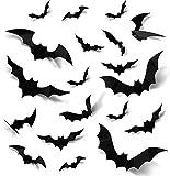 Halloween 3D Murciélagos Pegatinas Decoraciones, 96 PCS Pegatinas de Pared de Murciélago, para...