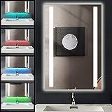 Ankishi 7 en 1 RGB Miroir de Salle de Bain LED, 20W IP44 Cosmétique Miroir avec...