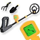 Voilamart Metal Detector for Kids Junior with Waterproof Search Coil, LCD Display Gold Hunter Detector and Adjustable Sensitive Stem - Lightweight Treasure Seeker for Beginners Children Adults