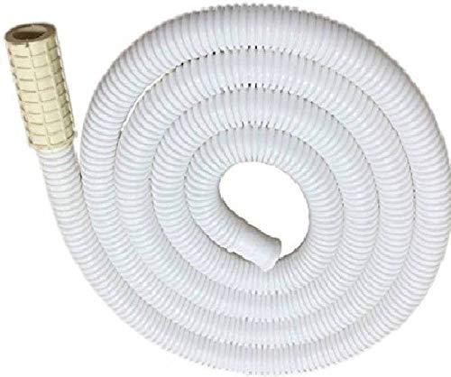 NEW WARE 2 Meter Washing Machine Inlet Pipe for Semi Automatic Washing Machine (Size-6.5 Feet) (White)