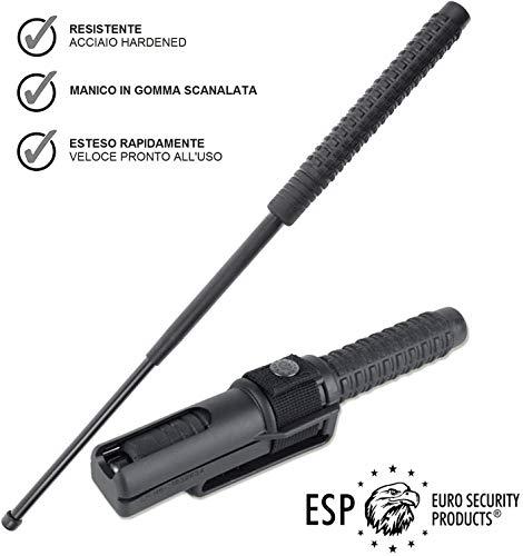 ESP Bastone autodifesa telescopico, Manganello Estensibile per Uso privato e Professionale, 2...