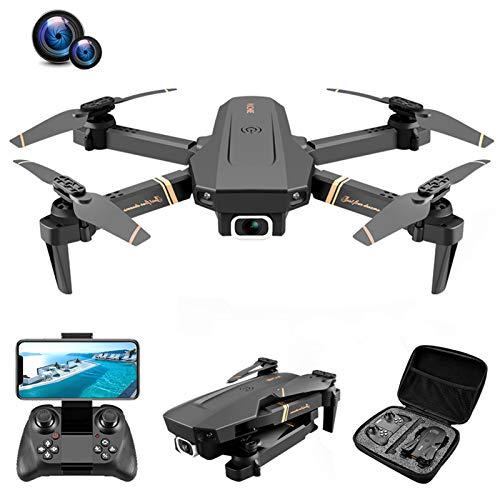 QiaoJia Drone con fotocamera HD 4K per adulti, pieghevole, con WiFi, DVR, quadricottero per principianti