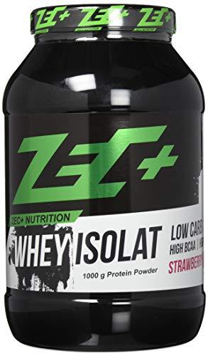 ZEC+ Whey Isolat - Erdbeere 1000 g - Fettarmes Eiweißpulver aus reinem Molkenprotein