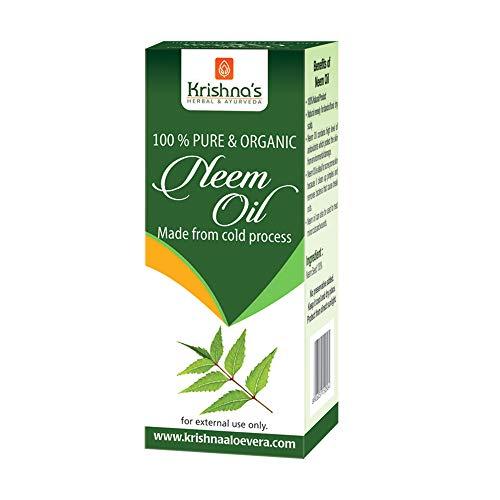 Krishna's Herbal & Ayurveda Cold Pressed Pure Neem Oil - 50 ml (Pack of 1)