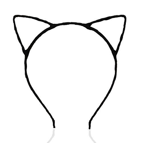 Pixnor fofa sexy feminina atraente cor vívida orelha de gato faixa de cabelo