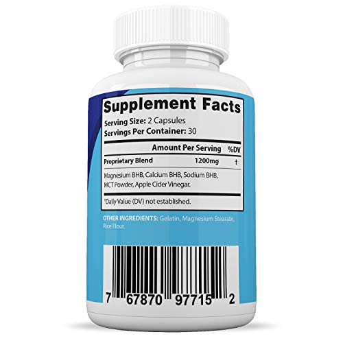 Rapid Fast Pure Keto Boost Max 1200MG Keto Pills Advanced BHB Ketogenic Supplement Exogenous Ketones Ketosis for Men Women 60 Capsules 1 Bottle 5