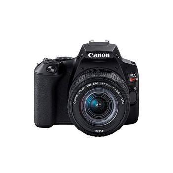 """Câmera canon sl3 dslr com 24. 1mp, 3"""", gravação em full hd - ef-s 18-55mm"""
