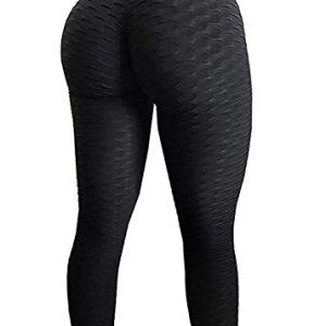 FITTOO Womens High Waisted Yoga Pants Tummy Control Scrunched Booty Leggings Workout Running Butt Lift Textured Tights 30