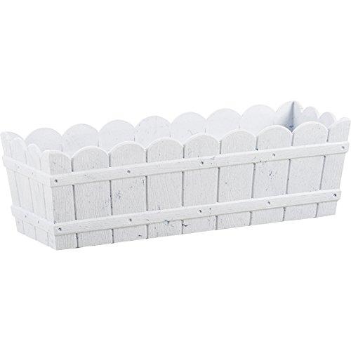 Emsa Country Window Box - Jardinera resistente a los rayos UV, resistente a heladas, Blanco, 50 x 17 x 15 cm