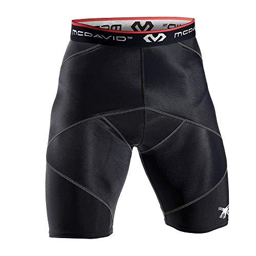 McDavid Compresión CROS Short, Hombre, Negro, XL