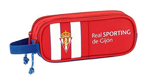 Safta Estuche Real Sporting De Gijon Oficial Escolar 210x60x80mm