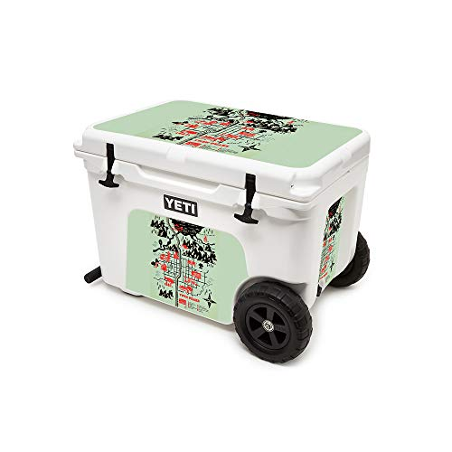MightySkins (Cooler Not Included) Skin Compatible with Yeti Tundra Haul Cooler - Twin Peaks Map | Protective, Durable, and Unique Vinyl Decal wrap Cover | Easy to Apply | Made in The USA
