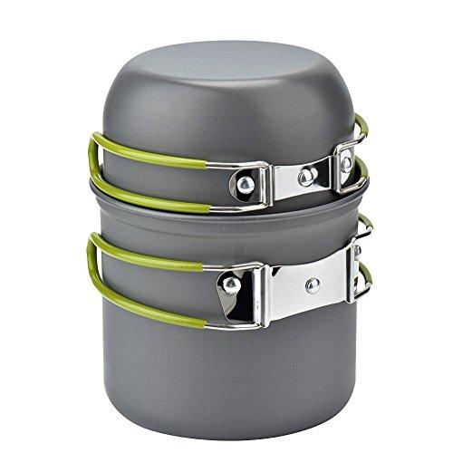 Cozyswan Outdoor Cooking Set Pot Bowl Stoviglie da cucina per campeggio e picnic - 2 pezzi