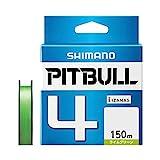 シマノ(SHIMANO) PEライン ピットブル 4本編み 150m 0.4号 ライムグリーン 8.6lb PL-M54R 釣り糸