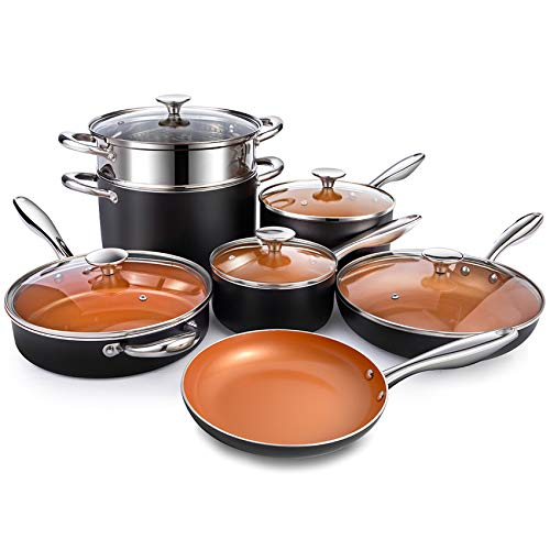 MICHELANGELO Copper Pots and Pans Set...