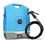 Ivation Multipurpose Portable Spray Washer w/Water Tank  Built in Rechargeable 2200 mAh Lithium Battery and 12v Car Plug - Metal Trigger Guns, Shower & Brush Heads and Flexible Hose