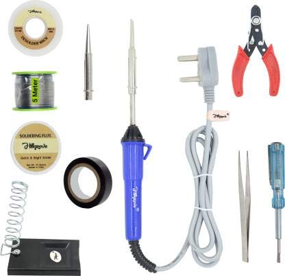 Hillgrove 10in1 Biggers 25W Soldering Iron Kit 25 W Simple(Flat, Conical Tip)