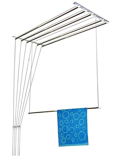Rainbow Drywell Luxury 6 Pipes Stainless Steel Cloth Dryer/Clothes Hanger (8 FEET)
