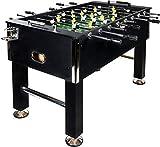 Baby Foot BuckShot Black - Table Soccer 141x77x89cm - Babyfoot 60kg - Soccer Table - Balles Incluses - Robuste et Durable