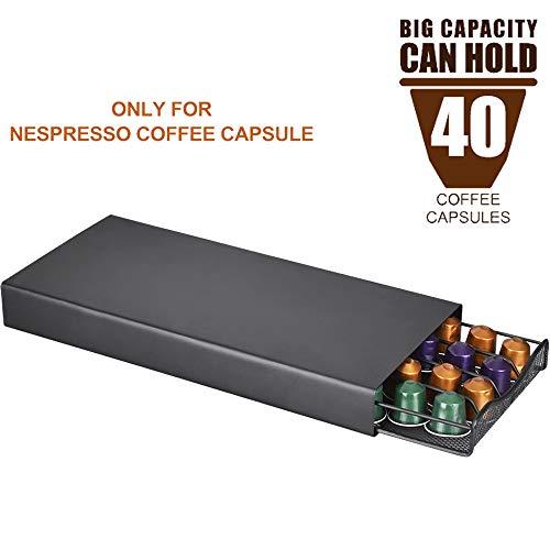 ALLOMN Porta Cassetto per Capsule per Caffè, per Capsule di Caffè Nespresso, Base per Staffa per...